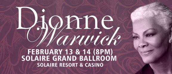 Dionne Warwick Live at Solaire on Valentine's Day