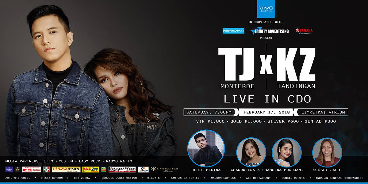 KZ Tandingan and TJ Monterde Together in CDO Post-Valentine Concert