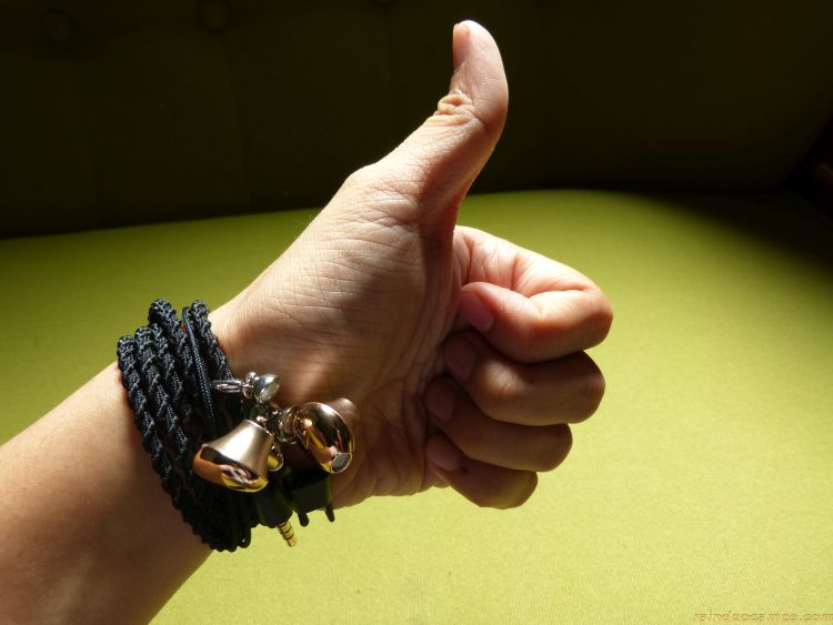 PROMATE Retro-2 Universal Wristband Style Earphones