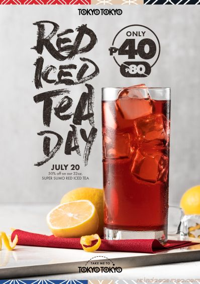 Tokyo Tokyo Celebrates 4th Annual Red Iced Tea Day