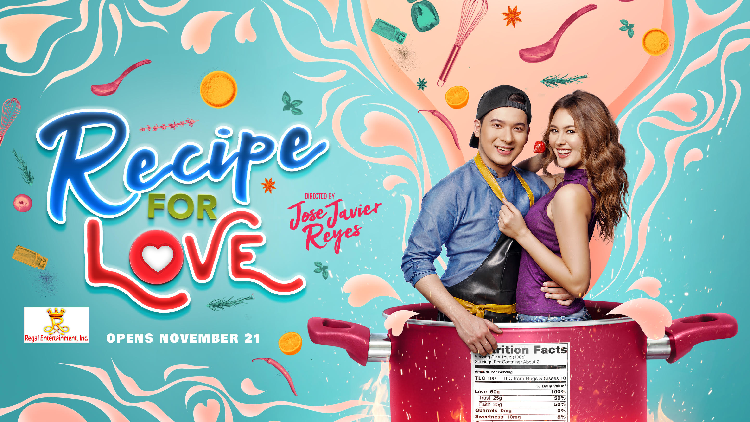 Christian Bables in His First RomCom Flick – Recipe For Love