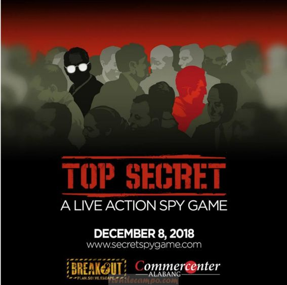 Join a Live Action Spy Game with BREAKOUT at Commercenter Alabang