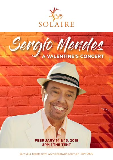 A Back-To-Back Solaire Valentine's Day Concert with Brazil's Cool Sergio Mendes