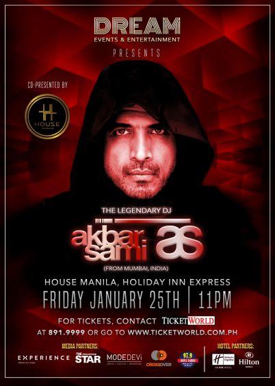 DJ Akbar Sami To Perform at  House Manila on January 25