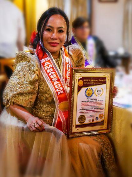 Ruby Canteras Pacis Receives 2018 Ambassadors Choice Excellence Award