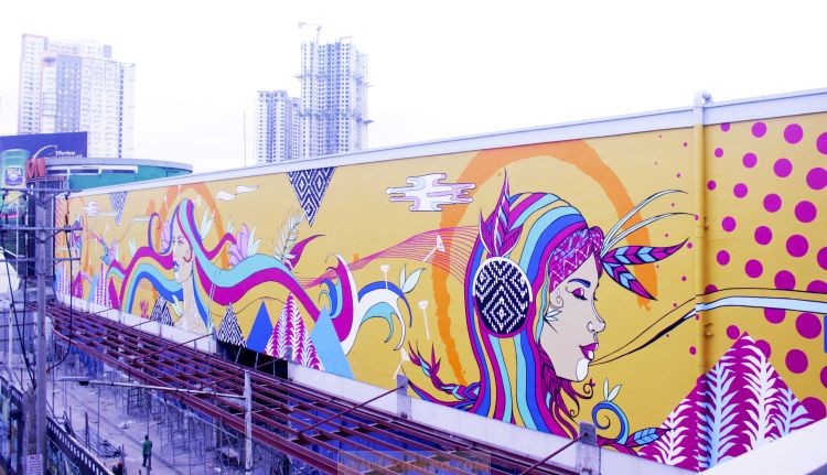 Eton Centris Unveils Gigantic Mural in EDSA