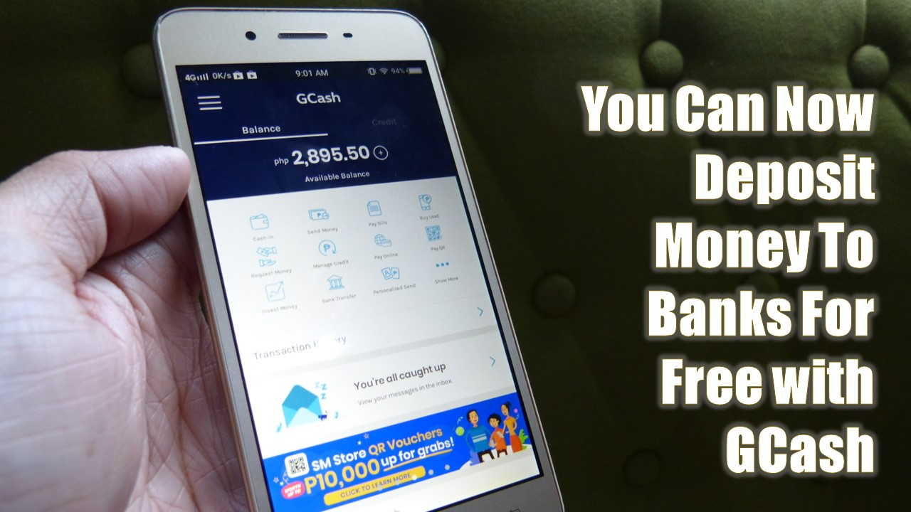 You Can Now Deposit Money To Banks For Free with GCash