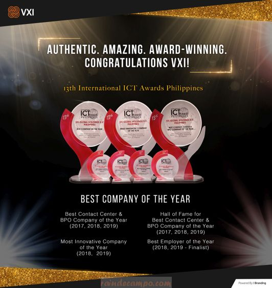 VXI Philippines Wins BPO Company of the Year Award