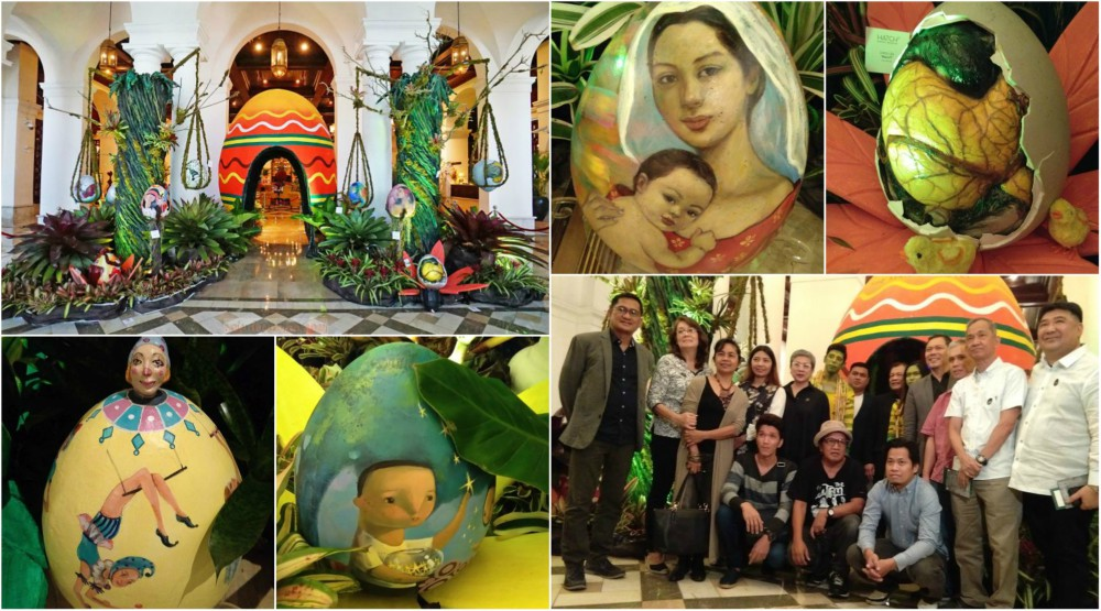Manila Hotel and The Manila Bulletin Hatches An Easter Eggchanted Garden Eggxibit