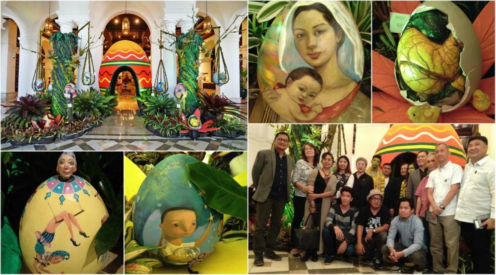 Manila Hotel and The Manila Bulletin Hatches An Easter Eggchanted Garden Eggxibit