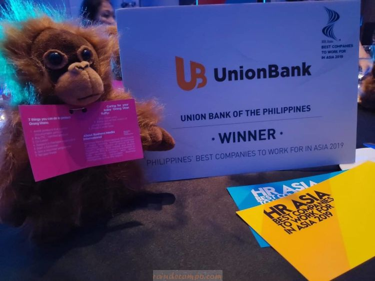 "UnionBank is HR Asia's ""Best Company to Work For in Asia"" This 2019"