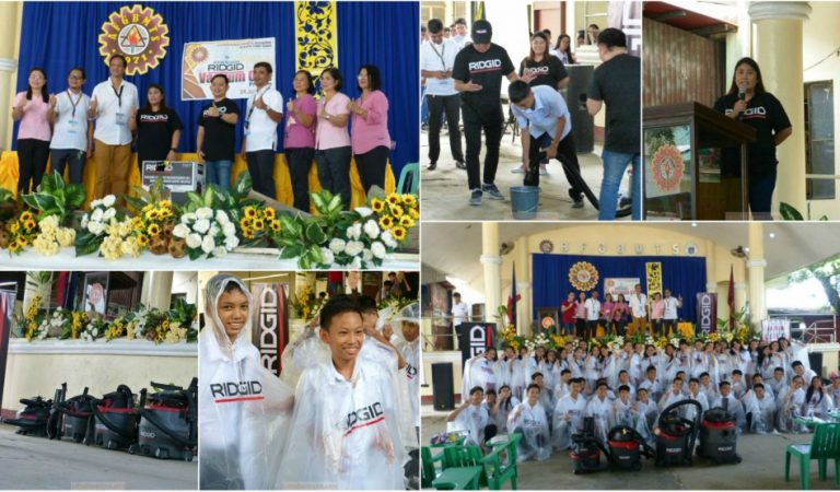 RIDGID Tools Donated Wet and Dry Vacuum Cleaners to Two Flood-Prone Schools in Bulacan