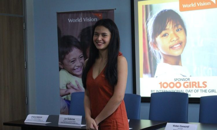 World Vision Ambassador Actress Bianca Umali To Help 1000 Girls Achieve Their Dreams