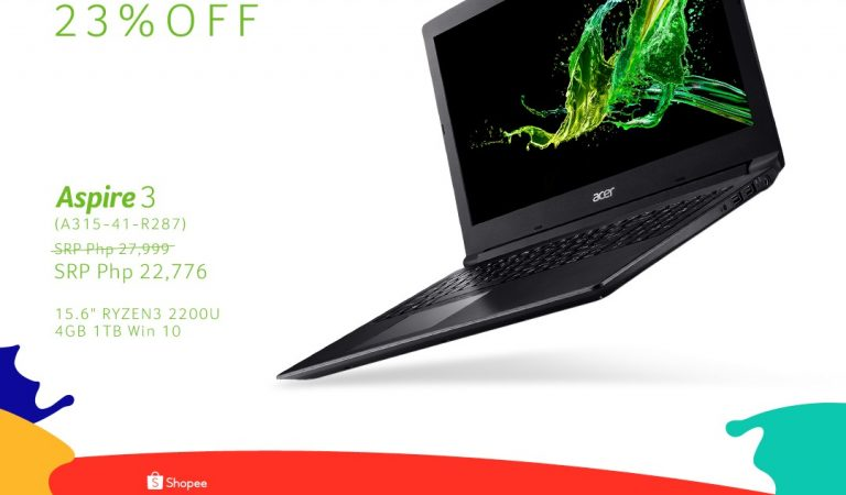 Up To 23% Discount on Selected Acer Products Via Shopee 9.9 Super Shopping Day