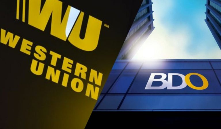 Western Union Money Transfers Now Available for Pick-up at BDO