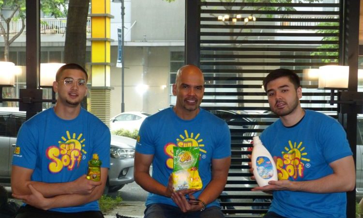 Tough But Gentle – Meet The SUN SOFT Celebrity Endorsers Benjie, Kobe and Andre Paras