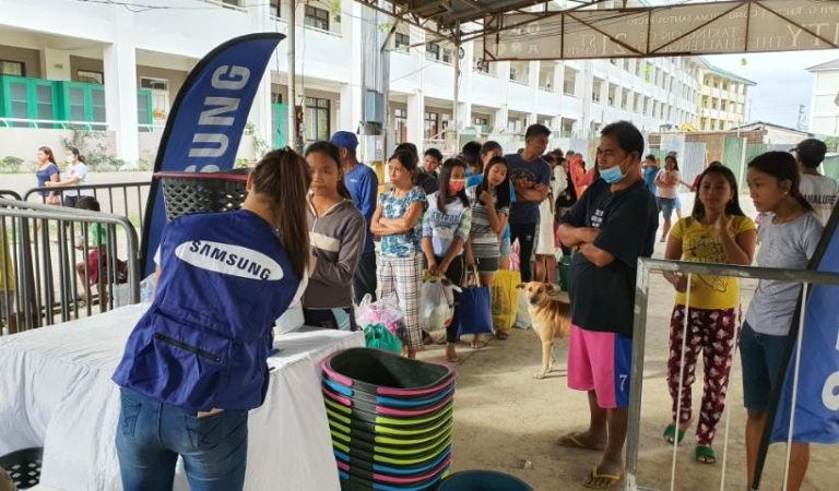 Samsung Lends Washers, Dryers and TV Sets to Taal Evacuation Site