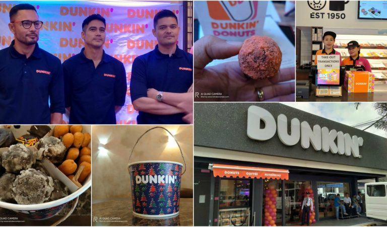 Checking Out The New Dunkin' Aurora 360 Store Design with Derek, Piolo and Dingdong