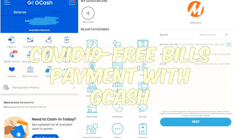 CoViD19-Free Bills Payment Using The GCash App