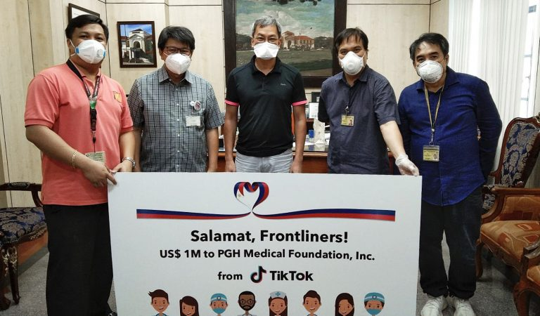 TikTok Donates 1M US Dollar Aide to PH Medical Frontliners