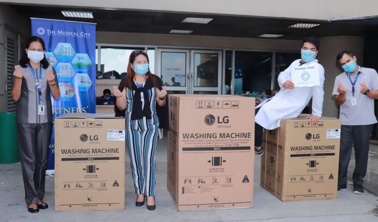 LG Donates Washers to The Medical City For the Use of Their CoViD-19 Medical Frontliners