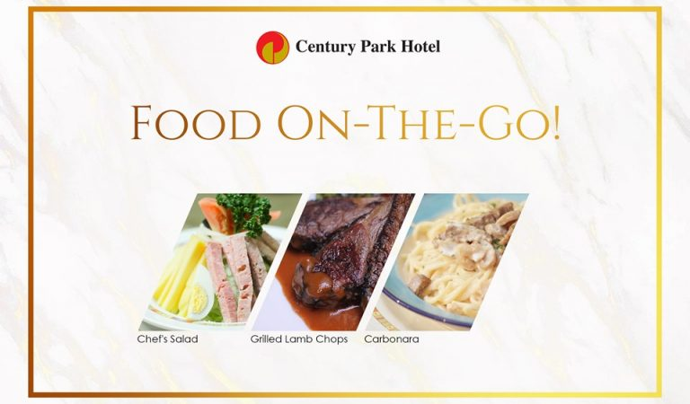 FOOD ON-THE-GO! Century Park Hotel's Gustatory Delights in the Comfort of Your Home