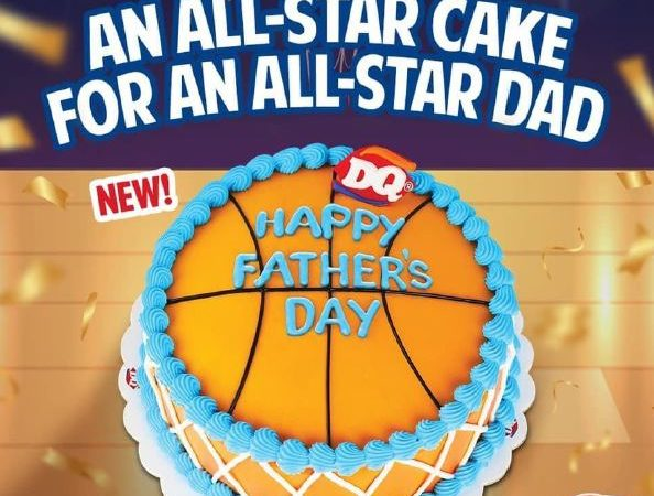 A DQ Limited-Edition Father's Day Basketball Ice Cream Cake For Your All-Star Dad