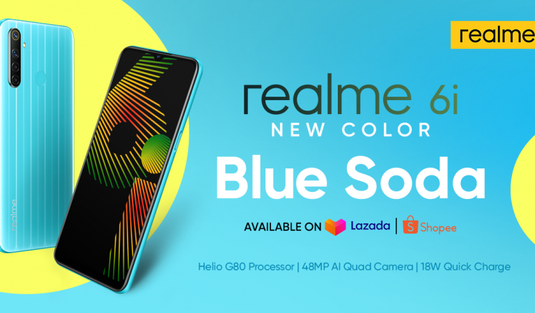 realme 6i Blue Soda To Launch at Lazada and Shopee 6.6 Sale with Awesome Deals