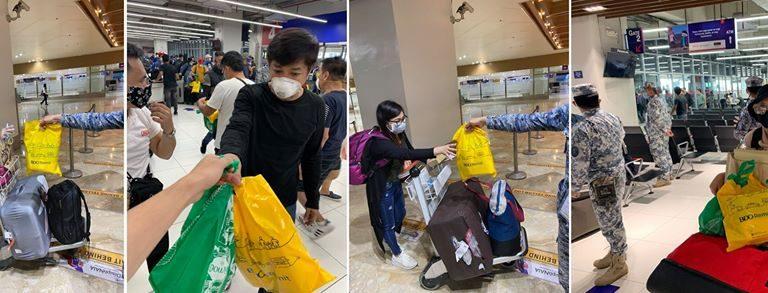 BDO Remit, BDO Foundation Distribute Hundreds of Hygiene Kits to Repatriated OFWs