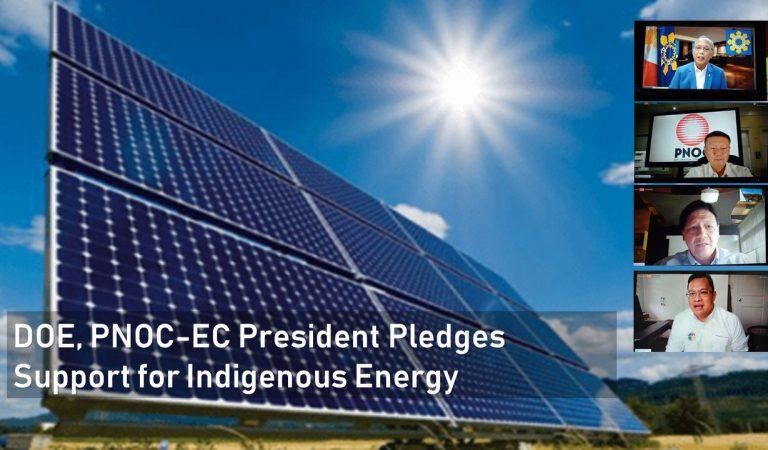DOE, PNOC-EC President Pledges Support for Indigenous Energy