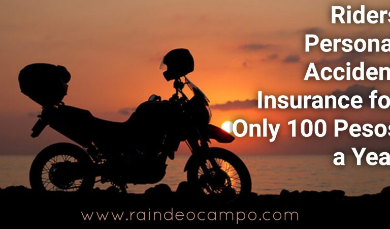 Riders Personal Accident Insurance for Only 100 Pesos a Year