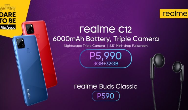 Powerhouse realme C12 and Buds Classic Launched Today at the realme Music Fanfest Live Online Event