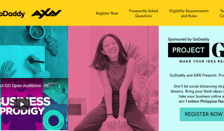 GoDaddy and AXN Launches Project GO, a New Reality Show for Aspiring Filipino Entrepreneurs