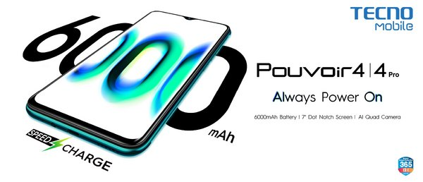 Always Power On with TECNO Mobile Pouvoir 4