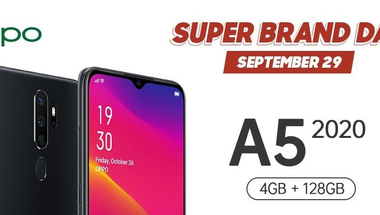 Get an OPPO A5 2020 For As Low As 7*90.00 Pesos at the Shopee SUPER BRAND DAY Sale