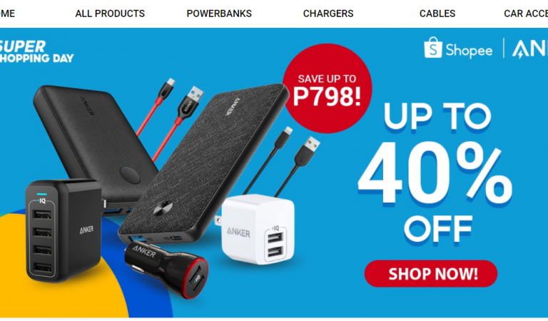 Anker Best-Sellers at 40% OFF at the Shopee 9.9 Super Shopping Day