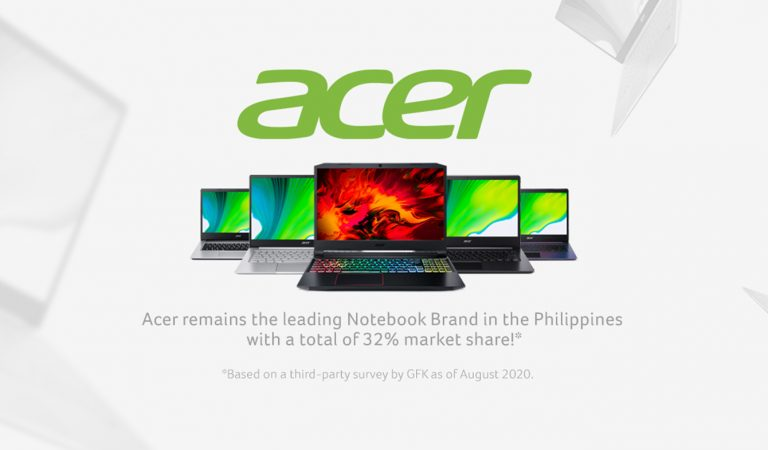 Acer is the Top Consumer and Gaming Laptop Brand in the Philippines, Latest Survey Reveals