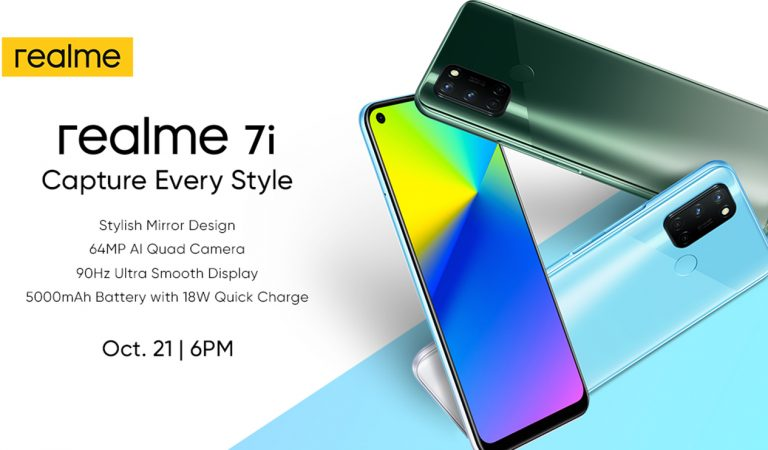realme Completes the 7 Series By Launching the realme 7i with 64MP Sony IMX471 Quad-Cam Sensor