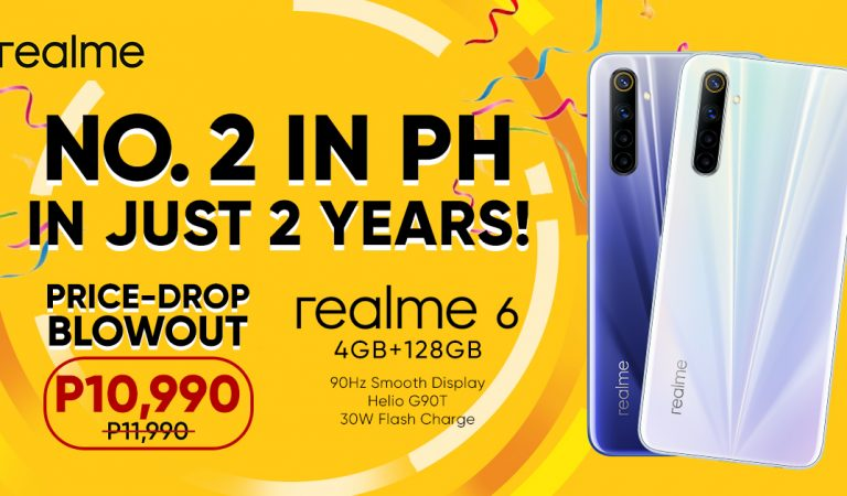 realme PH is Now Top 2 Smartphone Brand, Drops Price of realme 6 to Celebrate