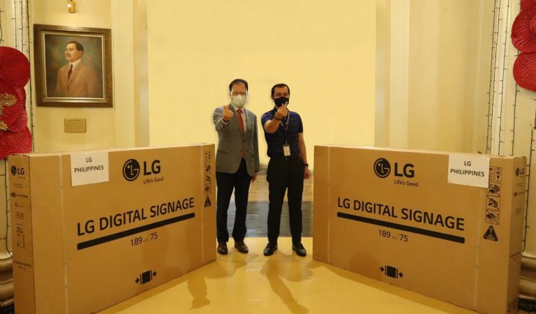 LG Donates Two Digital Signage Display to the City of Manila
