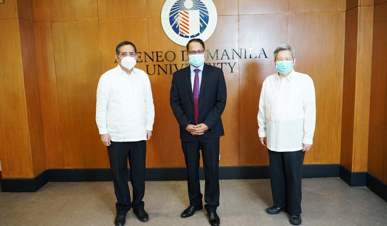 Indian Envoy Talks with AdMU President About Building Ties to Combat Climate Change and the Pandemic