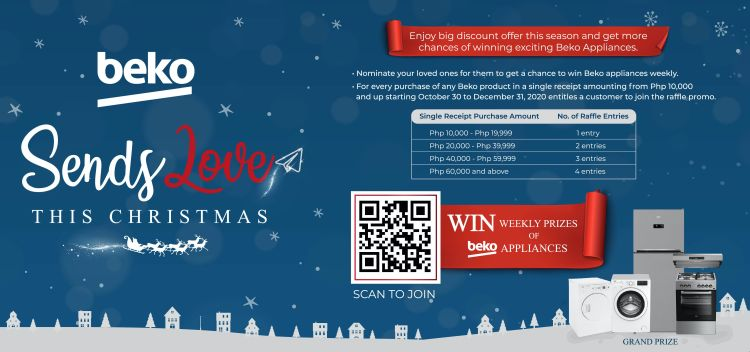 Beko Treats Christmas Shoppers with Promos and a Chance to Win an Appliance Showcase