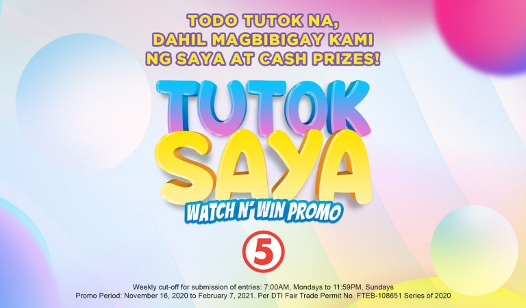 Win Up To 50,000 Pesos Cash By Watching Your Favorite Shows on TV5