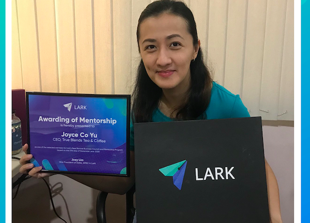 True Blends Tea and Coffee CEO Joyce Yu is Officially Announced as New Lark Business Mentee