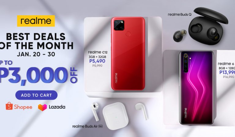 Best Deals of the Month |Get Up To 3,000 Pesos Off on Select realme Products