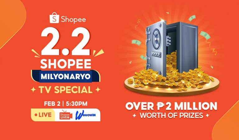 Win Over 2M Pesos Worth of Prizes During Shopee's 2.2 Shopee Milyonaryo TV Special