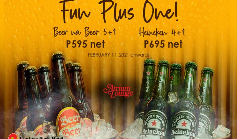 Enjoy Your Cold Drink Buckets Plus One at Century Park Hotel Manila