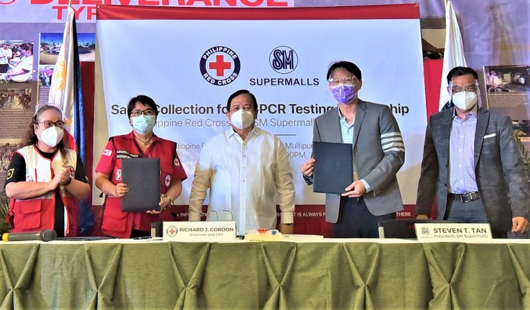 Philippine Red Cross Opens Drive-Thru Saliva RT-PCR Collection Sites in SM MOA and Megamall
