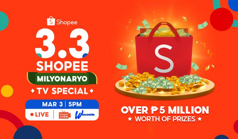Win Over 5 Million Worth of Prizes and Deals at the 3.3 Shopee Milyonaryo TV Special
