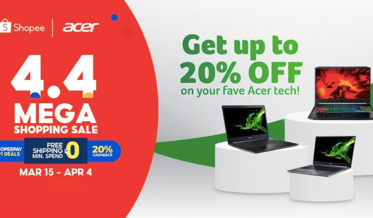 Acer Products with Up To 20% Discount at the Shopee Mega Shopping Sale